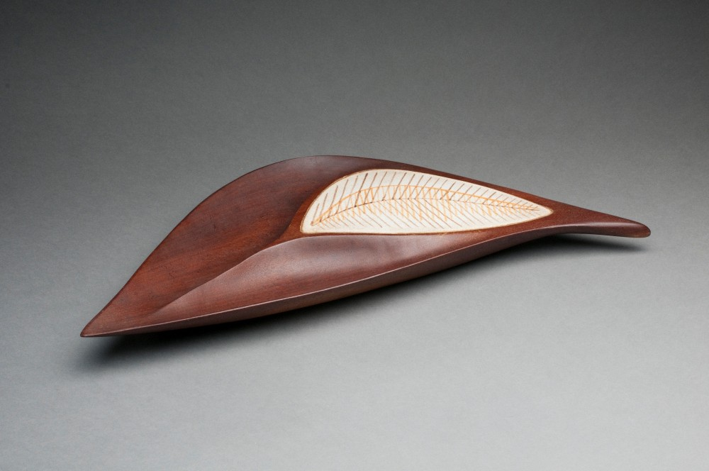 Wood and Ceramic Plate