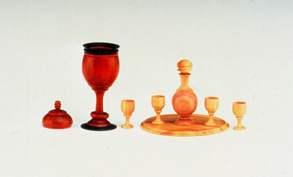 Chalice with Lid and friendship Ring/Decanter Set and Tray