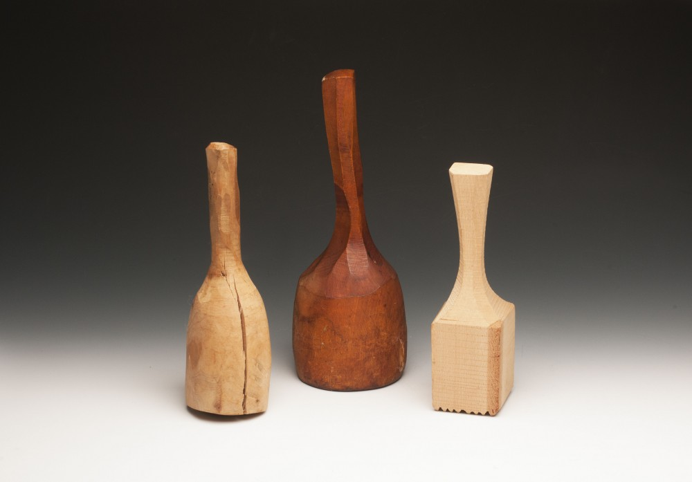 Two Carving Mallets from Bowling Pins, Meat Tenderizer