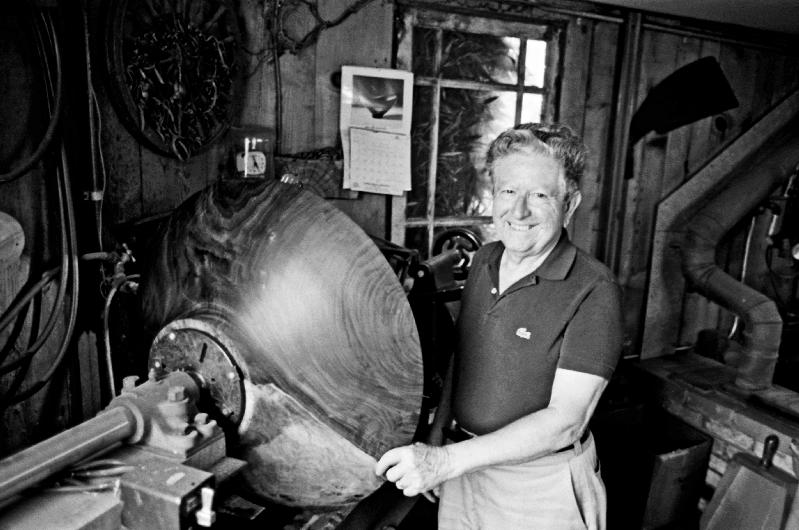 Bob Stocksdale (1913-2003) at his Studio, Berkeley, CA