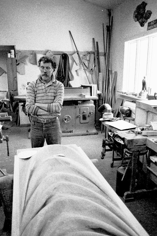 Wendell Castle at his Studio, Scottsville, NY