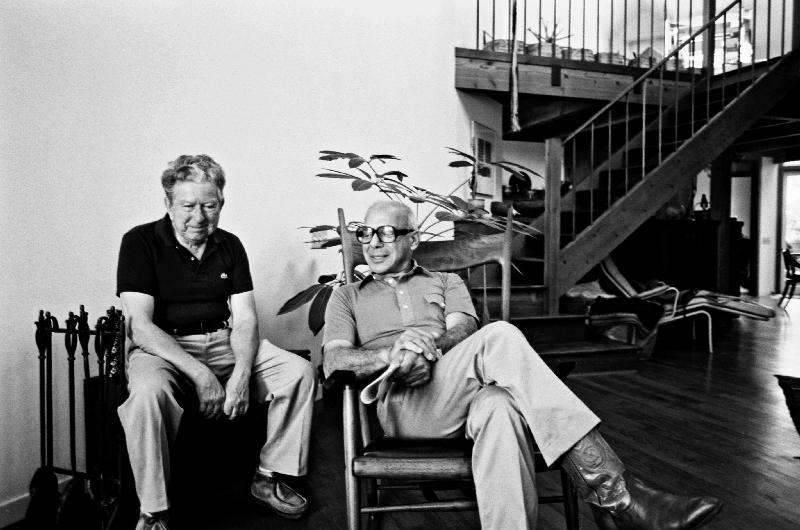 Bob Stocksdale (1913-2003) and Sam Maloof (1916-2009) at the Stocksdale home, Berkeley, CA