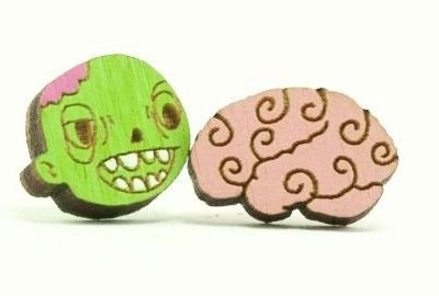 Unpossible Cuts Zombie earrings