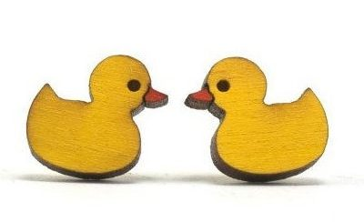 Unpossible Cuts ducky earrings