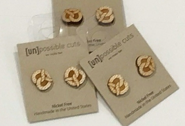 Unpossible Cuts pretzle earrings